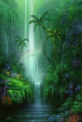 Emerald Falls Mural - David Miller  Murals Your Way
