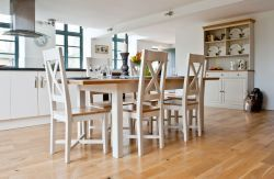 Intone Extending Dining Table & 6 Intone Dining Chairs an innovative dining sets on Sale, a perfect dining range for a family gathering. Dimension of table Length 165cm extending to 203cm:Height: 77cm,Width; 90cm. Dimension of Chairs Height :105cm,Width; 46cm,Depth: 43cm.. Price: £ 1109.95.