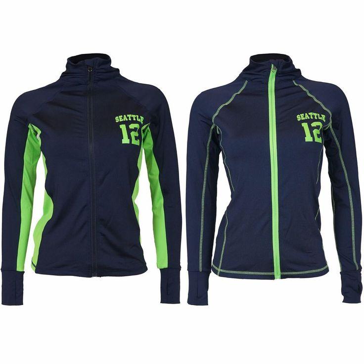 Seattle Football 12TH Man Fan Junior's Seattle 12 Track Jacket (Run Small) #Zone12Sports #TrackJacket