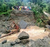 Las lluvias han provocado múltiples estragos en 7 poblaciones rurales. Foto: SGR