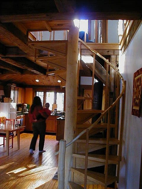 log cabin stairs to loft - Bing Images