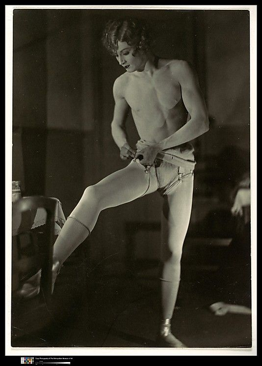 Man Ray: Barbette Dressing, ca. 1926 - Medium: Gelatin silver print