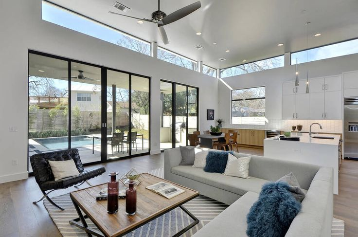 Strip of windows up high house in austin by moazami homes for Modern window styles