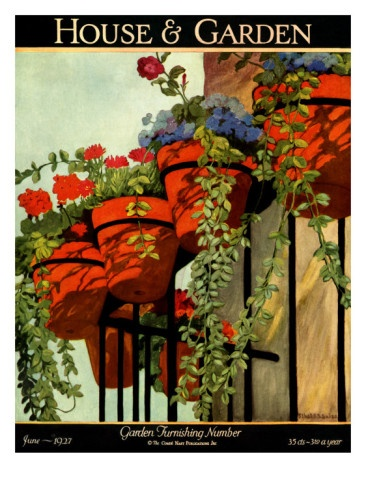 House & Garden Cover - June 1927 by Ethel Franklin Betts Baines