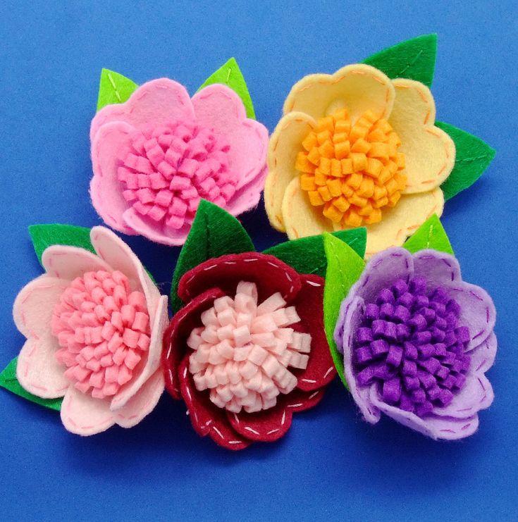 Handmade Flower felt appliques