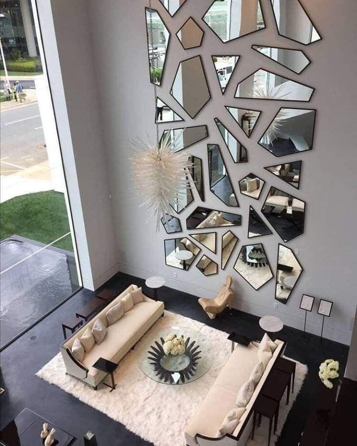 Pin De Janaina Alves Em Décoration Intérieure Decoração De Escada Decoração Sala Rock Decoração Com Espelhos