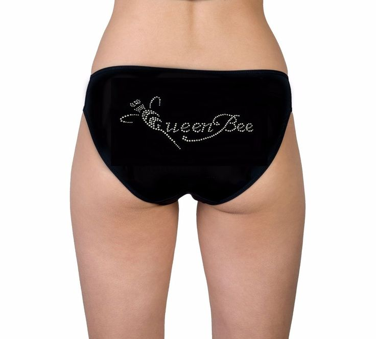 AU Hand Designed Queen Bee Kinky Women s Plus Size Crystallised Lingerie Panty