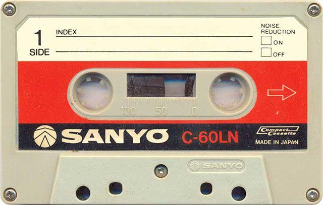 Blank audio cassette tape (Sanyo) - www.remix-numerisation.fr - Rendez vos souvenirs durables ! - Sauvegarde - Transfert - Copie - Digitalisation - Restauration de bande magnétique Audio - MiniDisc - Cassette Audio et Cassette VHS - VHSC - SVHSC - Video8 - Hi8 - Digital8 - MiniDv - Laserdisc - Bobine fil d'acier - Micro-cassette - Digitalisation audio