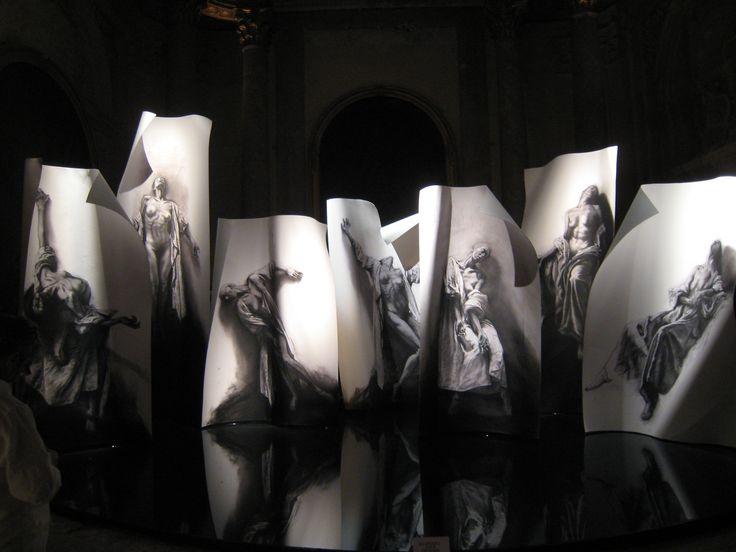 Extases par Ernest Pignon-Ernest (sept portraits imaginés de grandes mystiques chrétiennes)