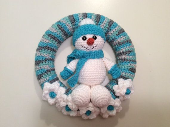 Snowman Winter Wreath tutorial Snowman Wreath by Teddywings