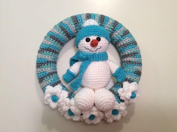 Muñeco de nieve invierno guirnalda tutorial por Teddywings en Etsy