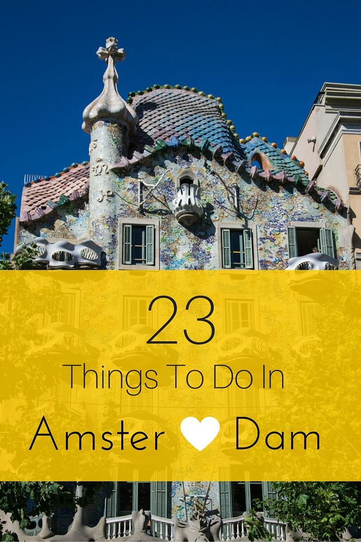 Amsterdam is a heck of a fun city! Here is my list 23 amazing fun, free, cheap, and must do things to do in Amsterdam!