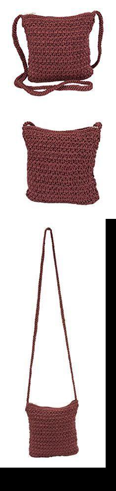 Crochet Crossbody. Boho Crochet Crossbody Handbag, Organizer Sling Bag, Small Crocheted Hippie Purse (Maroon).  #crochet #crossbody #crochetcrossbody