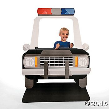Police Car Giant 5 Foot Cardboard Photo Standup Party Supplies Canada - Open A Party
