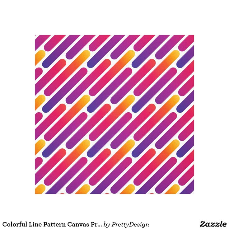 Colorful Line Pattern Canvas Print