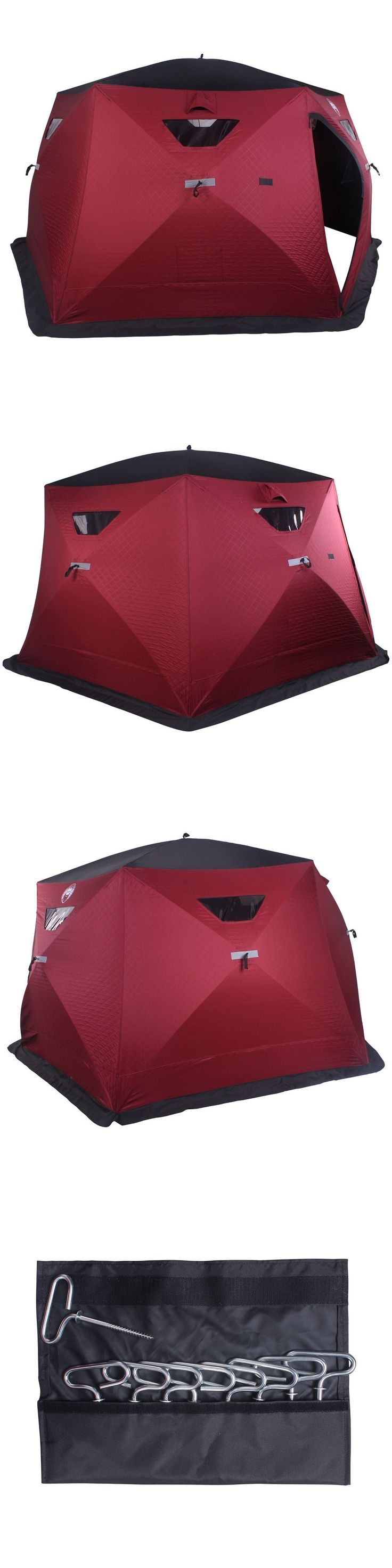 Tents and Shelters 72670: New! Nordic Legend Hex-Hub 6 To 8 Man Thermal Ice Shelter BUY IT NOW ONLY: $379.99