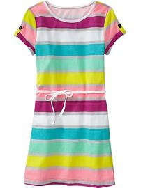 Stripey dress!  Available at the Old Navy Canada kid & baby sale (Feb 7-20)!  #ONKidtacular