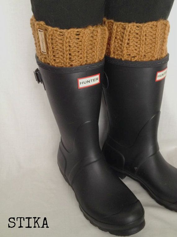 STIKA  Crochet Ribbed Boot Toppers  Yellowhead by KnotSewKrazy