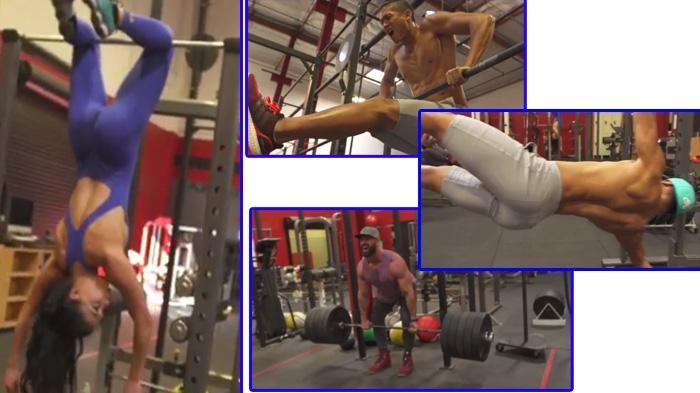 Dari Bergelantungan Hingga Angkat Besi, Mannequin Challenge Ala Fitnes Ini Bikin Meringis!