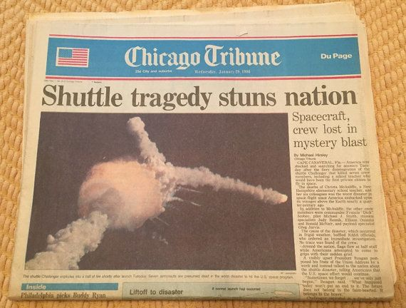 Chicago Tribune Newspaper  Shuttle Tragedy by CrypticalCollectible