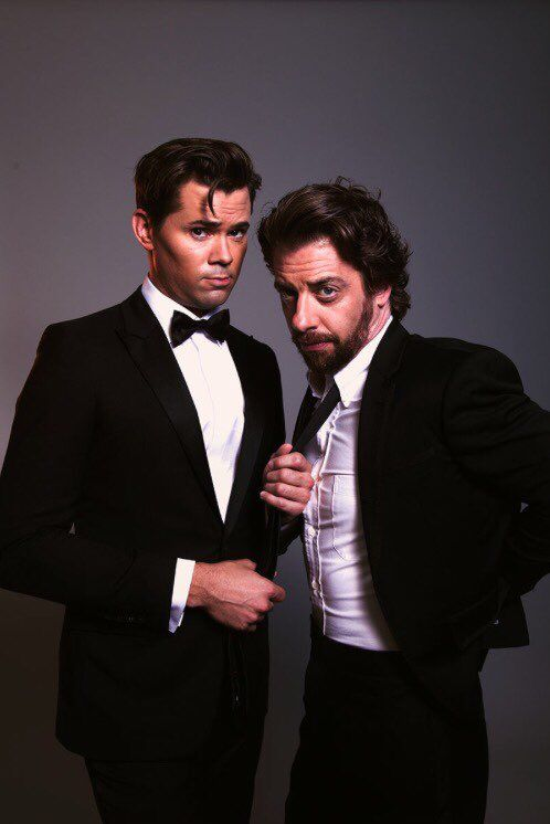 Andrew Rannells and Christian Borle