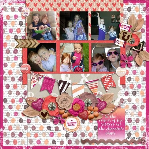 Layout by CTM Mecia using {Heart My Sister} Digital Scrapbook Collection by Pixelily Designs available at Gingerscraps http://store.gingerscraps.net/Pixelily-Designs/ #digiscrap #digitalscrapbooking #pixelilydesigns #heartmysister