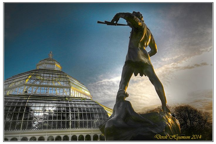 Peter Pan statue in Sefton Park, Liverpool, England