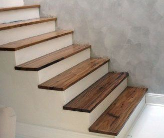Pingl par vanessa martin sur escaliers pinterest - Recouvrir un escalier en bois de beton cire ...