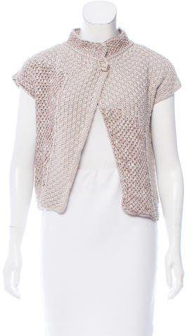 Fabiana Filippi Knit Short Sleeve Cardigan