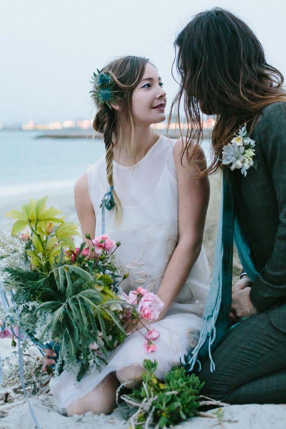 Boho beach wedding 12