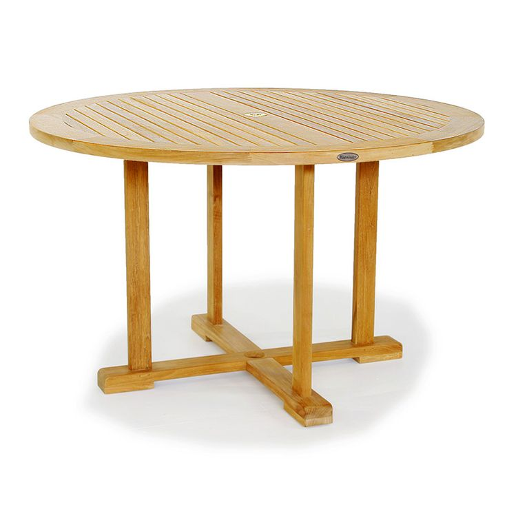 17 best images about dining tables on pinterest stainless steel teak and squares - Round teak table and chairs ...