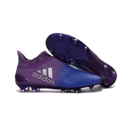 2016 Adidas X 16 Purechaos FG AG Chaussures de football Bleu Violet Soldes