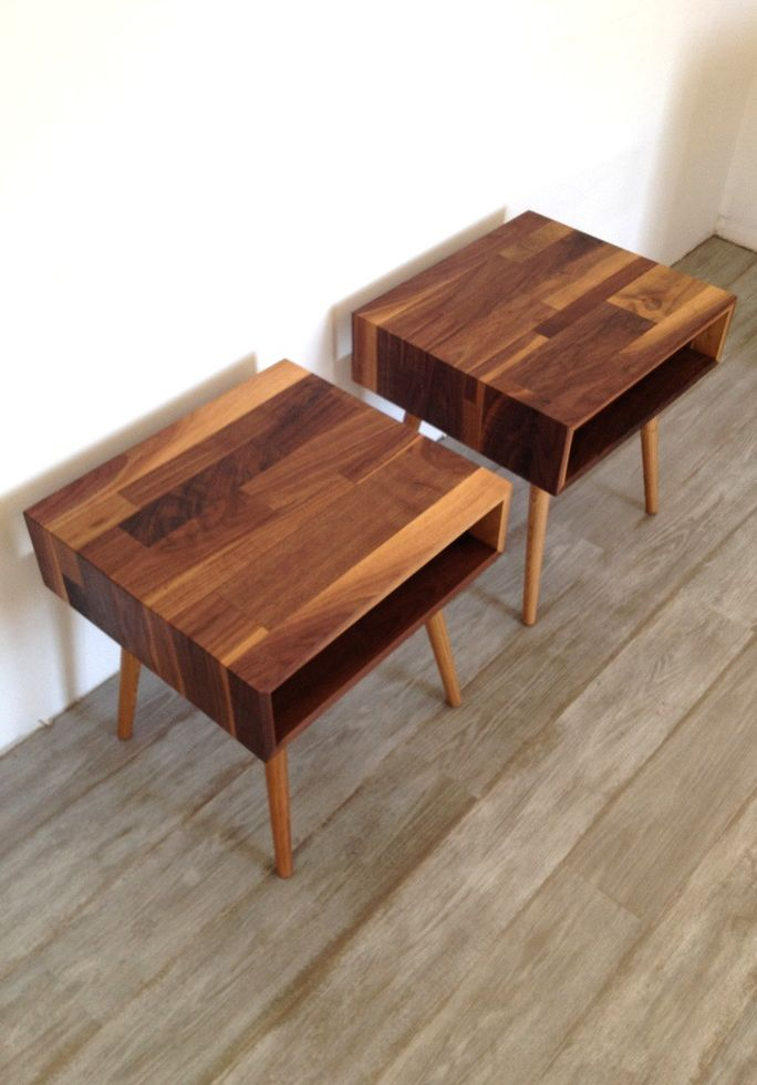 Mixed Walnut Side Tables These are nice