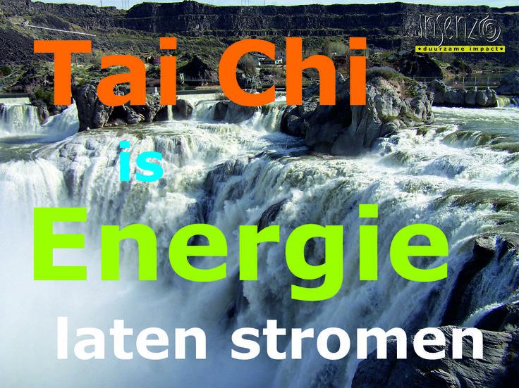 Tai Chi Chuan en energie gaan heel goed samen. Tai Chi versterkt je energie terwijl je beter snapt waar je energie laat weglopen. Een combinatie die meer energie oplevert.