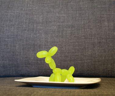 fun food kids weintrauben hund grapes dog snack healthy gesund fruits obst animals tiere zahnstocher food picker ballons Luftballons Sinja78