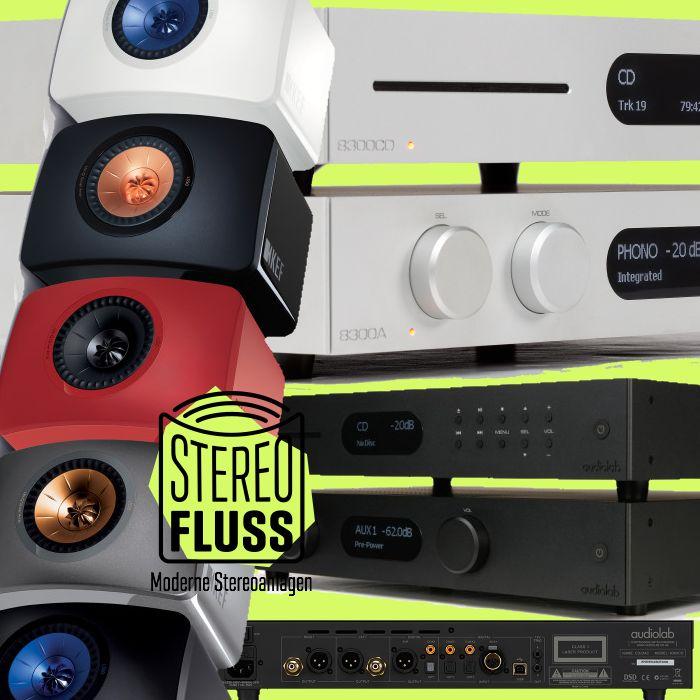 KEF LS50 Lautsprecher und Audiolab 8300 Verstärker & CD-Spieler