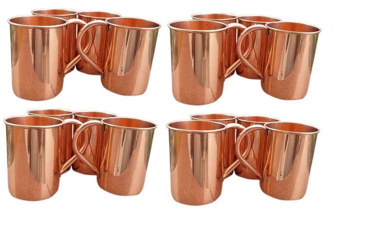 Set of 16 Classic Moscow Mule Copper Mugs, 24 Ounce. #VisvabhavanahMart