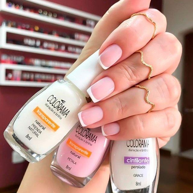 """1,119 curtidas, 17 comentários - Colorama Esmaltes (@esmaltecolorama) no Instagram: """"O combinadinho ideal para uma esmaltação perfeita! ❤ Prenda Natural + Pétala + Grace …"""""""