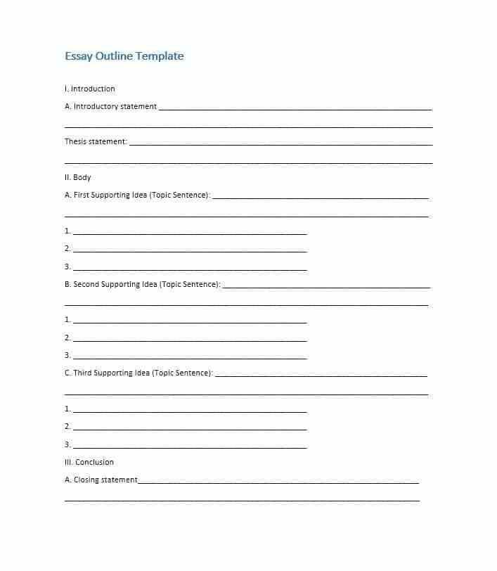 4 Essay Outline Templates Essay Outline Essay Outline Template
