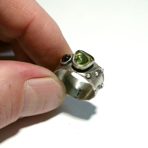 Srebrny Pierścień|Oliwin|Ametyst|Silver Ring|Handmade|By Norman Man Jewellery