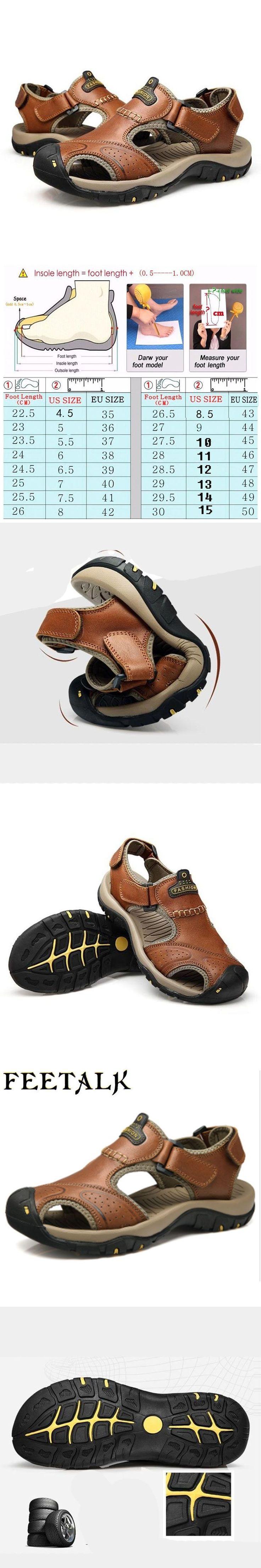 feetalk Mens Summer Sports Outdoor Trekking Hiking Sandals Shoes For Men Sport Climbing Mountain Shoes Man Sandals #climbingshoes #menssandals