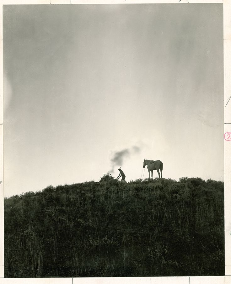 A Native American sends smoke signals in Montana, June 1909.Photograph by Dr. Joseph K. Dixon, National Geographic