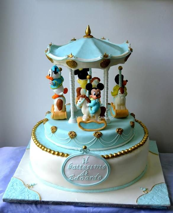 Disney Babies Carousel Cake made by Marzia Caruso