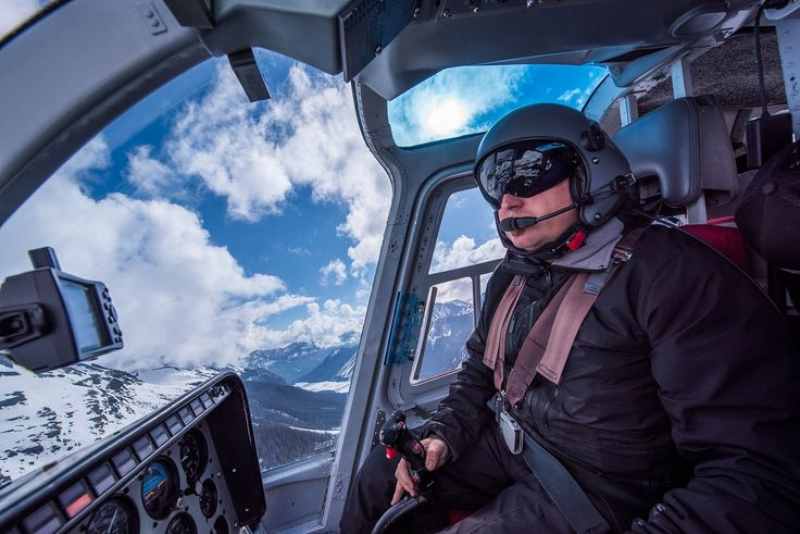 Peter the pilot taking Team Outpost over #Canmore #Kananaskis and the #Canadian Rockies!