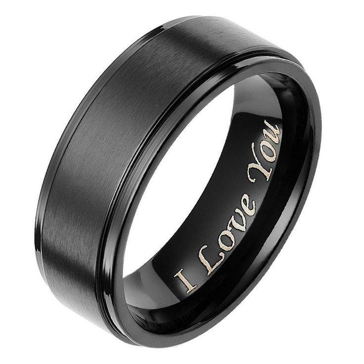 Men's black titanium engagement ring //Price: $20.99 & FREE Shipping //     http://histrends.com/mens-black-titanium-engagement-ring/    #mensaccessories