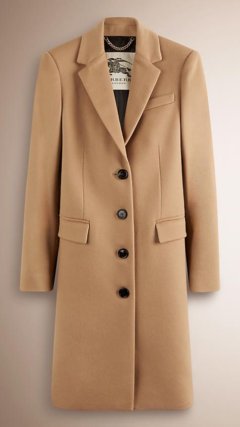 Camel Tailored Wool Cashmere Coat - Image 1