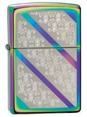 Zippo Spectrum Bracelet Lighter model 24853.. Gorgeous lighter that reflects all different colors in the light! Beautiful ornate detailing in the diagonal designs. Available at www.Hand-Tools.com #luxury #zippo #edc
