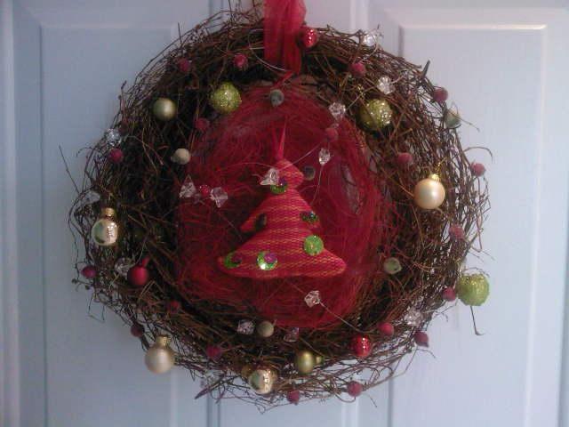door wreath_DIY