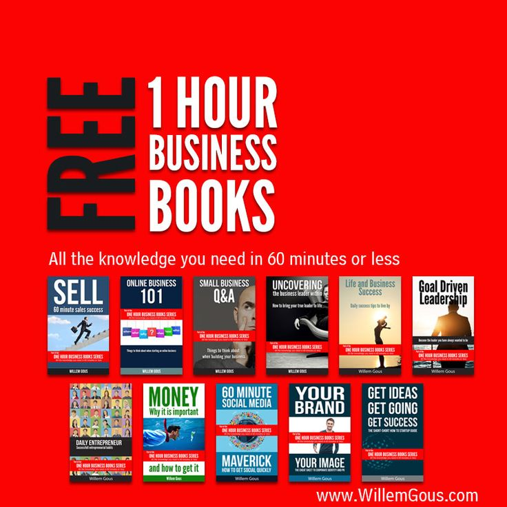 FREE 1 Hour Business Books - Make a success of life and business today @willemgous http://goo.gl/6wZWIH