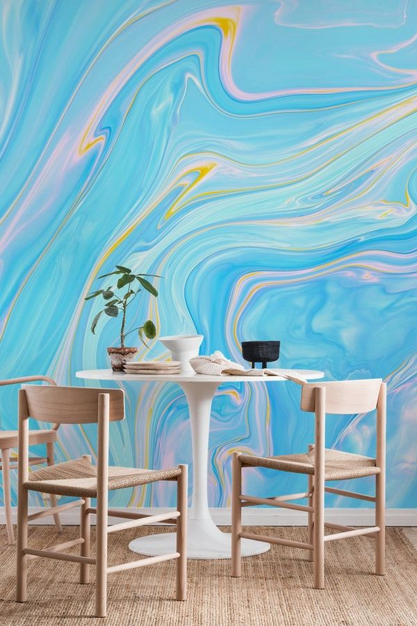 Abstract Pastel Marble Wall Mural From Happywall Water Paint Marbling Psychedelic Modern Marble Wallpap Marble Wall Mural Wall Murals Brick Wall Drawing